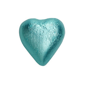 Tiffany Blue Solid Milk Chocolate Foiled Hearts