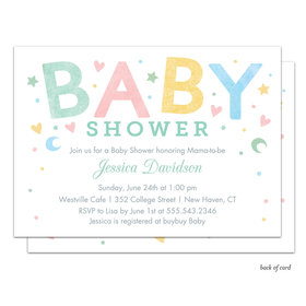 Bonnie Marcus Collection Personalized Sweet Baby Invitation