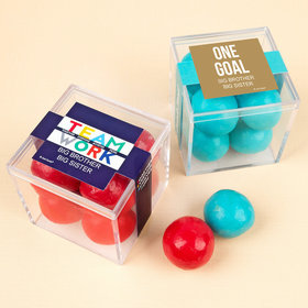 Personalized Business Teamwork JUST CANDY® favor cube with Premium Malted Milk Balls