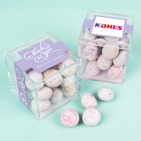 Personalized Business Thank You JUST CANDY® favor cube with Premium Confetti Cookie Bites