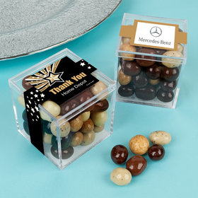 Personalized Business Thank You JUST CANDY® favor cube with Premium New York Espresso Beans