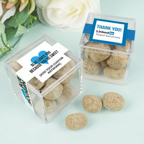 Personalized Business Thank You JUST CANDY® favor cube with Premium Marshmallow S'mores - Milk Chocolate