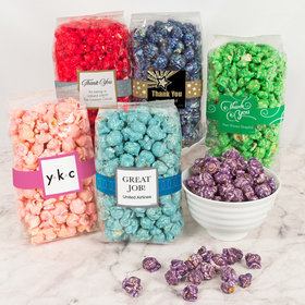 Personalized Business Thank You Candy Coated Popcorn 8 oz Bags