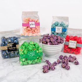 Personalized Business Thank You Candy Coated Popcorn 3.5 oz Bags