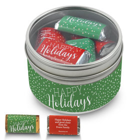 Personalized Happy Holidays 8oz Tin