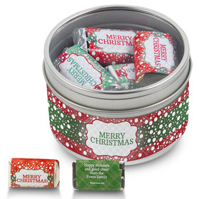 Personalized Merry Christmas Hershey's Miniatures Holiday Tin