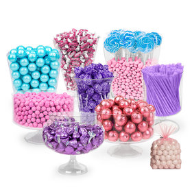Blue, Pink & Purple Deluxe Candy Buffet