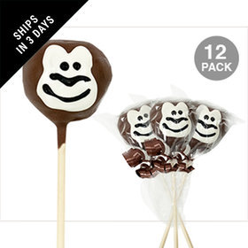 Monkey Double Chocolate Cake Pops (12 Pack)