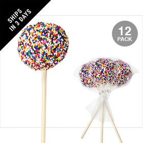 Sprinkle Covered Vanilla Cake Pops (12 Pack)