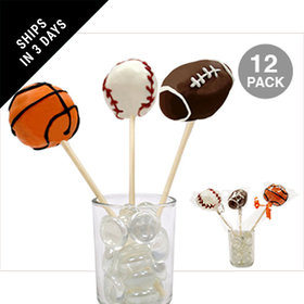 Sports Mix Double Chocolate Cake Pops (12 Pack)