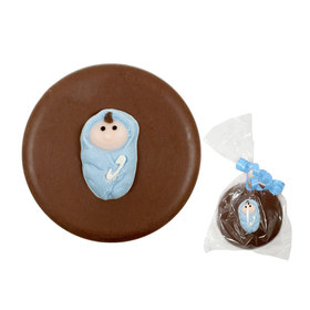 Blue Baby Swaddled & Milk Chocolate Covered OREO Cookies (12 Pack)