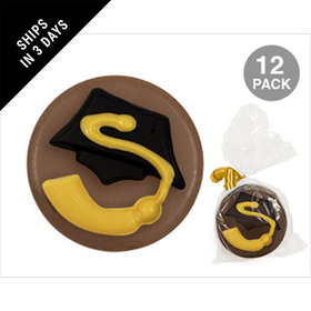 Milk Chocolate Covered OREO Cookies with Graduation Cap & Tassle (12 Pack)
