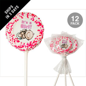 It's a Girl with Sprinkles White Chocolate Covered OREO Cookies (12 Pack)