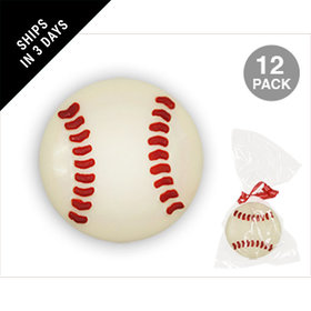 Baseball White Chocolate Covered OREO Cookies (12 Pack)