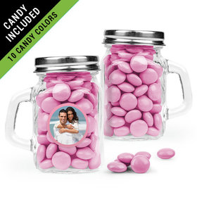 Personalized Anniversary Favor Assembled Mini Mason Mug Filled with Just Candy Milk Chocolate Minis
