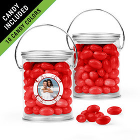 Personalized Anniversary Favor Assembled Paint Can Filled with Just Candy Jelly Beans