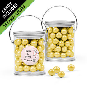 Personalized Anniversary Favor Assembled Paint Can Filled with Sixlets