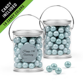 Personalized 25th Anniversary Favor Assembled Paint Can Filled with Sixlets