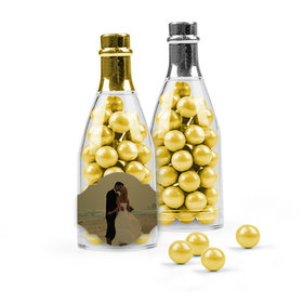 Personalized 50th Anniversary Favor Assembled Champagne Bottle Filled with Sixlets