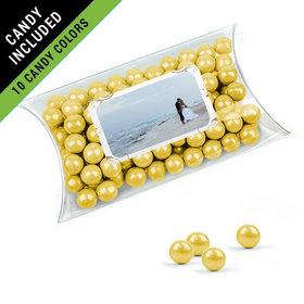 Personalized 50th Anniversary Favor Assembled Pillow Box Filled with Sixlets