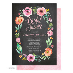 Bonnie Marcus Collection Personalized Watercolor Blossom Invitation