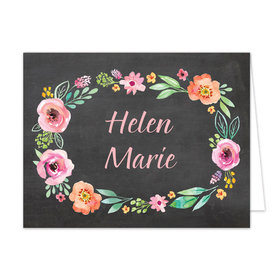 Bonnie Marcus Collection Watercolor Blossom Wreath Chalkboard Thank You