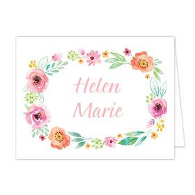Bonnie Marcus Collection Watercolor Blossom Wreath Pink Thank You