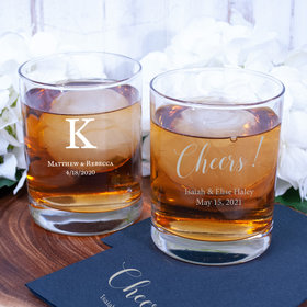 Personalized Wedding 13oz Double Rocks Glasses