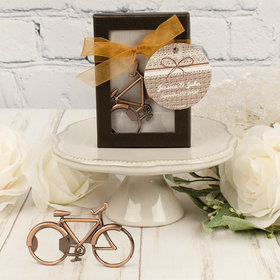 Personalized Wedding Bicycle Bottle Opener