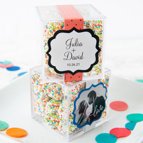 Personalized Wedding JUST CANDY® favor cube with Rainbow Berries