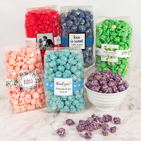 Personalized Wedding Candy Coated Popcorn 8 oz Bags