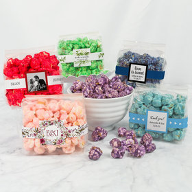 Personalized Wedding Candy Coated Popcorn 3.5 oz Bags