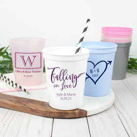 Personalized Wedding 16oz Stadium Cup