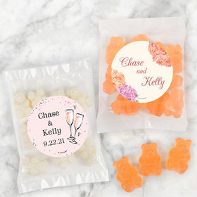 Personalized Wedding Candy Bags with Gummi Bears
