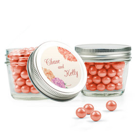 Personalized Wedding Favor Assembled Small Mason Jar Filled with Sixlets