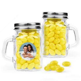 Personalized Wedding Favor Assembled Mini Mason Mug Filled with Just Candy Jelly Beans
