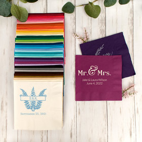 Personalized Wedding 3-Ply Traditional Lunch Napkins