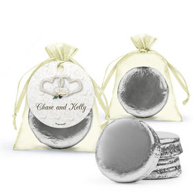 Personalized Wedding Favor Assembled Organza Bag Hang tag Filled with Chocolate Covered Oreo Cookie