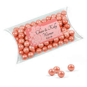 Personalized Wedding Favor Assembled Pillow Box Filled with Sixlets