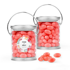 Personalized Wedding Favor Assembled Paint Can Filled with Just Candy Jelly Beans