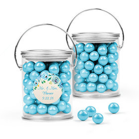 Personalized Wedding Favor Assembled Paint Can Filled with Sixlets