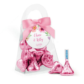Personalized Wedding Favor Assembled Purse Filled with Hershey's Kisses