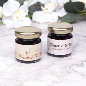 Personalized Wedding Red Raspberry Preserves
