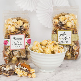 Personalized Wedding Trendy Trash Popcorn 8 oz Bags