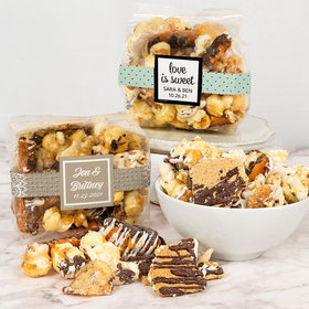 Personalized Wedding Trendy Trash Gourmet Popcorn 3.5 oz Bags