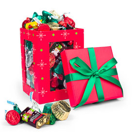 Red Christmas Window Gift Box