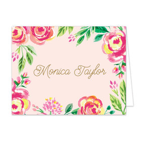 Bonnie Marcus Collection Watercolor Pink Blossom Thank You