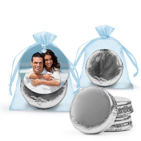 Personalized Rehearsal Dinner Favor Assembled Organza Bag Hang tag Filled with Chocolate Covered Oreo Cookie