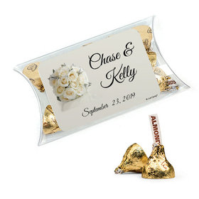 Personalized Rehearsal Dinner Favor Assembled Pillow Box Filled with Hershey's Kisses