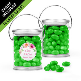 Personalized Rehearsal Dinner Favor Assembled Paint Can Filled with Just Candy Jelly Beans